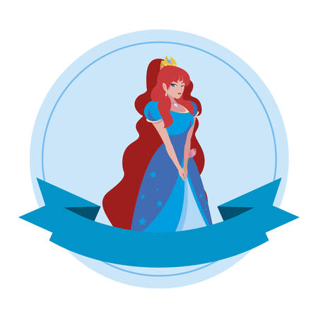 beautiful princess of tales character vector illustration design Stock Illustratie