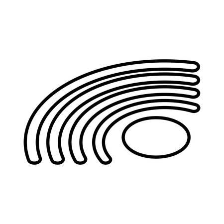 wireless symbol in white background vector illustration design