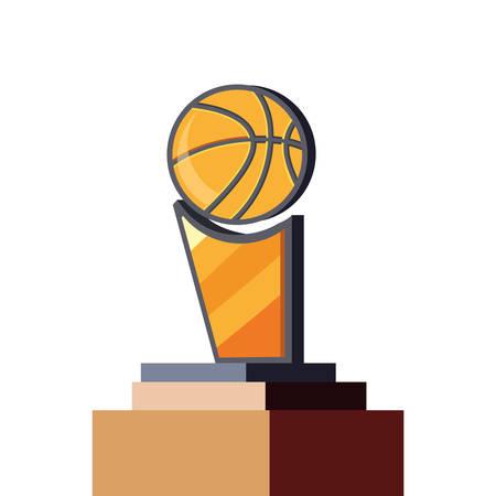 trophy ball basketball sport award vector illustration Foto de archivo - 134875062
