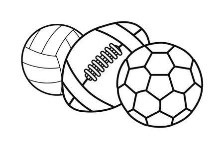 volleyball soccer rugby ball sport vector illustration design