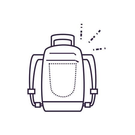 travel bag equipment isolated icon vector illustration design