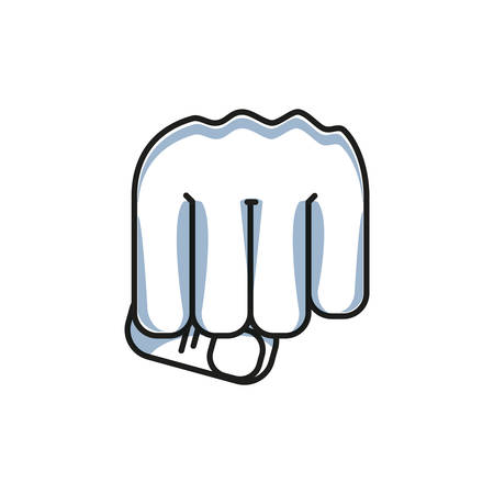 hand fist power isolated icon vector illustration design