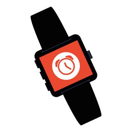 smartwatch technology with alarm app vector illustration design Фото со стока - 134902291
