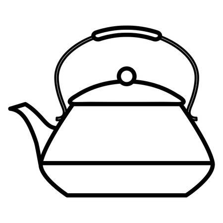 tea kettle icon over white background, vector illustration Reklamní fotografie - 134902394
