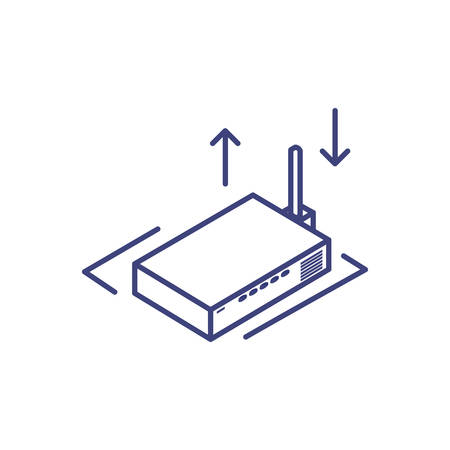 wireless router on white background vector illustration design