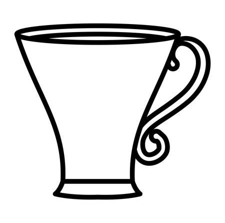 coffee mug icon over white background, vector illustration