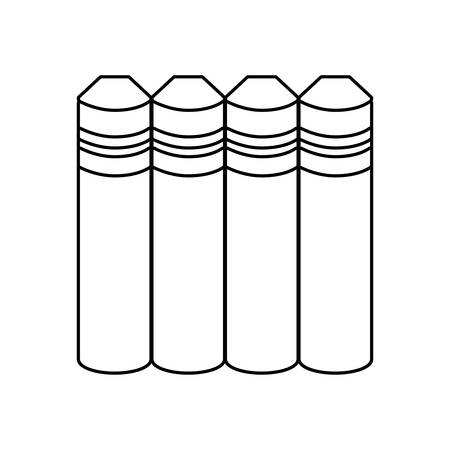 pile of textbooks isolated icon vector illustration design