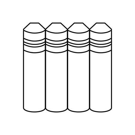 pile of textbooks isolated icon vector illustration design 版權商用圖片 - 134902464