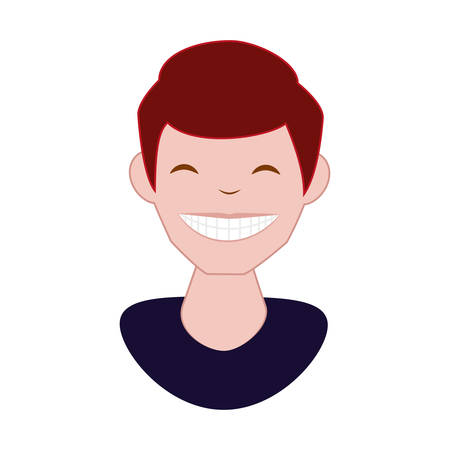 man with perfect teeth vector illustration design Stockfoto - 134902465