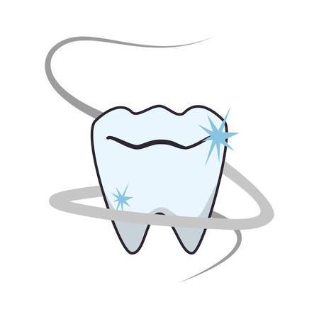 tooth human isolated icon vector illustration design Stockfoto - 134899708