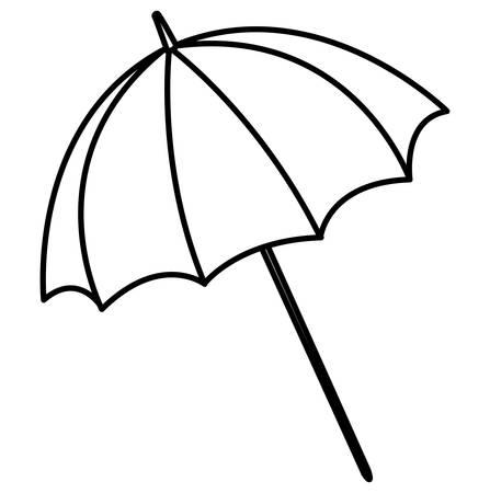 beach parasol over white background, vector illustration Illustration