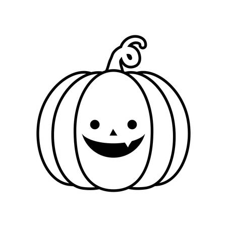 halloween pumpkin on white background vector illustration design Zdjęcie Seryjne - 134902910