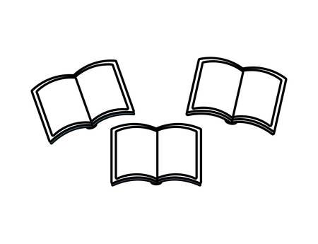 set of textbooks open isolated icon vector illustration design 向量圖像