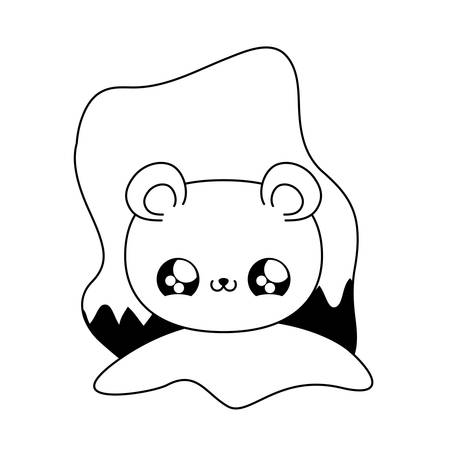 cute head of bear baby animal   vector illustration design Illusztráció