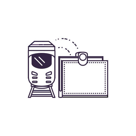 train travel vehicle with wallet vector illustration design Фото со стока - 134902559