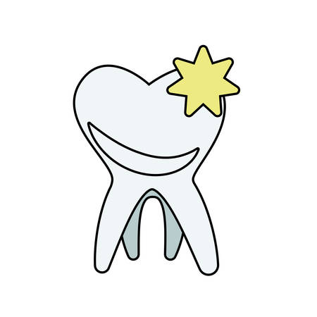 tooth human isolated icon vector illustration design Stock Illustratie