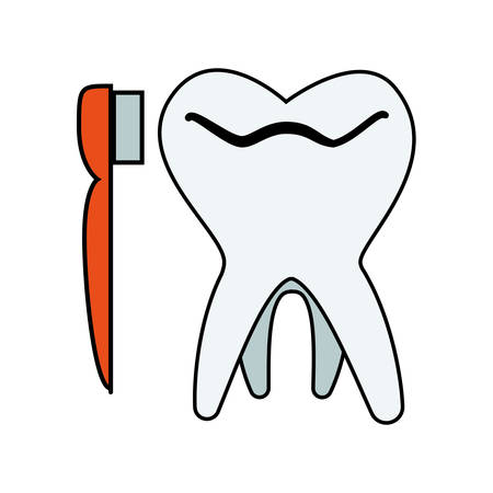 tooth human with brush vector illustration design Stock Illustratie