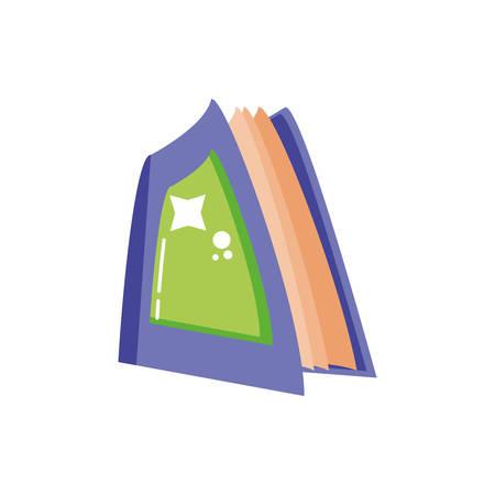 reading book on white background vector illustration design