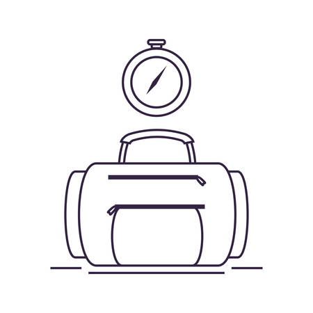compass guide device with suitcase vector illustration design  イラスト・ベクター素材