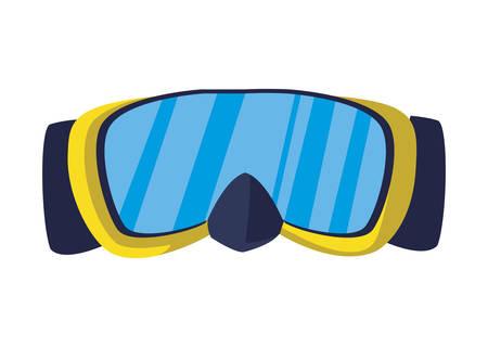 diving snorkel mask summer icon vector illustration design