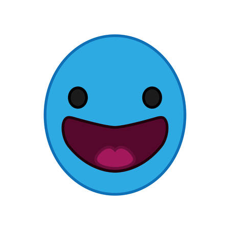 cartoon happy head   character vector illustration design