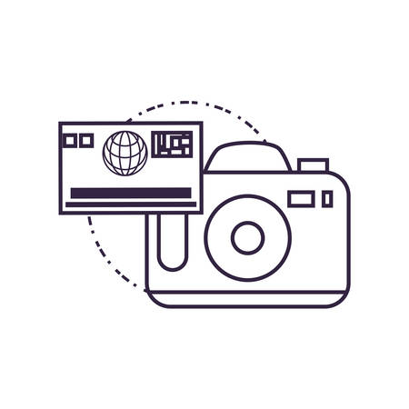 camera photographic digital with credit card vector illustration design 向量圖像