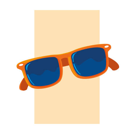 Glasses design, Fashion style accessory summer eyesight optical lens and view theme Vector illustration