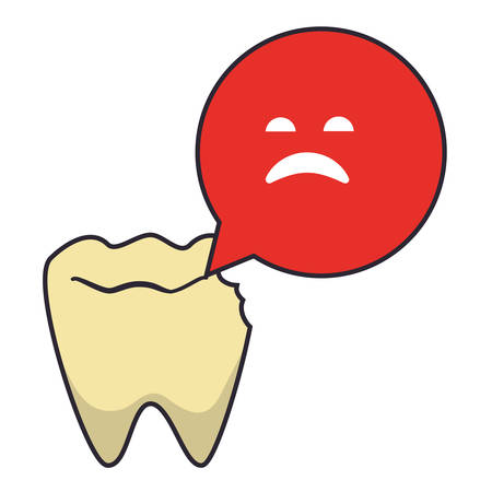 tooth human broken icon vector illustration design