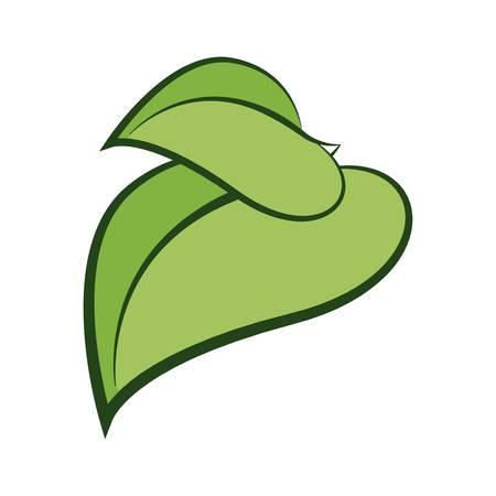 ecology leafs plant icon vector illustration design Ilustrace