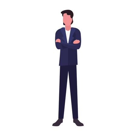 man character male casual clothes vector illustration Archivio Fotografico - 134948703