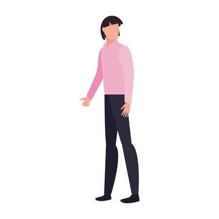 man character male casual clothes vector illustration Archivio Fotografico - 134959586