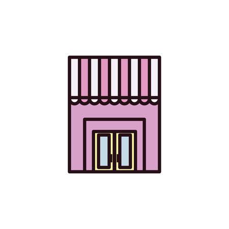 facade of the Bakery shop in white background vector illustration design Reklamní fotografie - 134980736