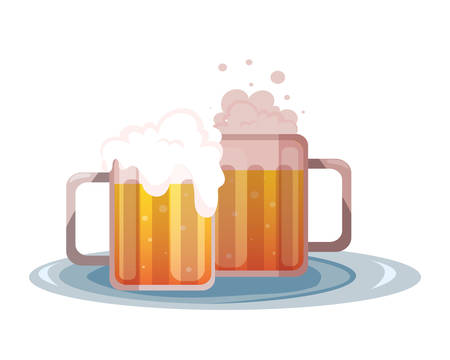 mug of beer in white background vector illustration design Illustration