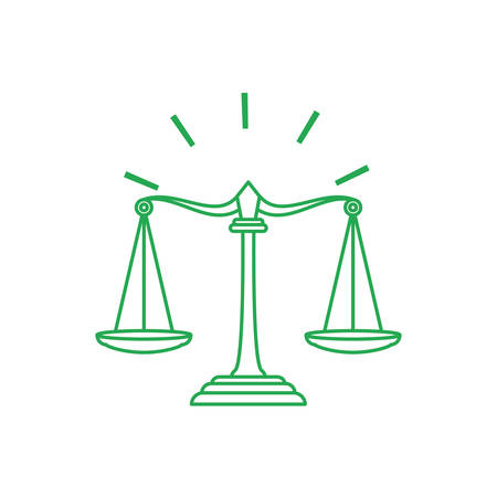 justice balance symbol isolated icon vector illustration design