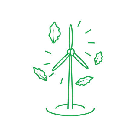windmill air power isolated icon vector illustration design