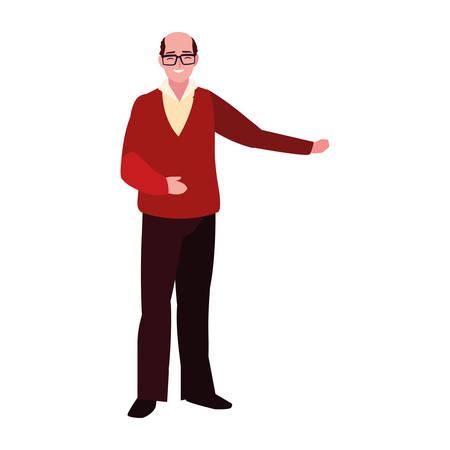 adult man standing character design vector illustration
