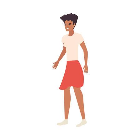 woman female character casual clothes vector illustration Ilustração