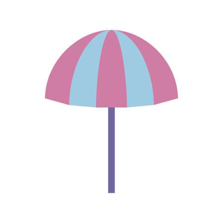 beach umbrella open isolated icon vector illustration design Ilustração