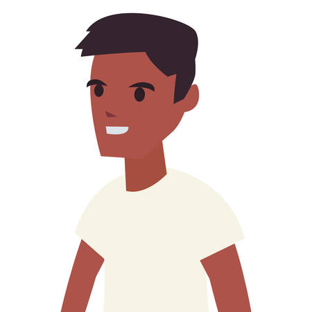 young man portrait on white background vector illustration 일러스트