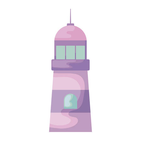 lighthouse sea maritime isolated icon vector illustration design Stock Illustratie