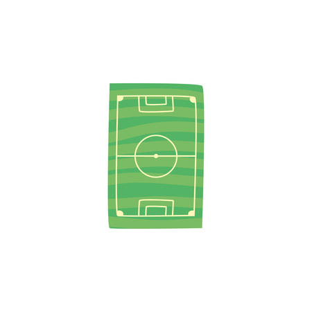 soccer field on white background vector illustration design Çizim