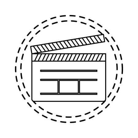 patch of clapboard cinema director isolated icon vector illustration design