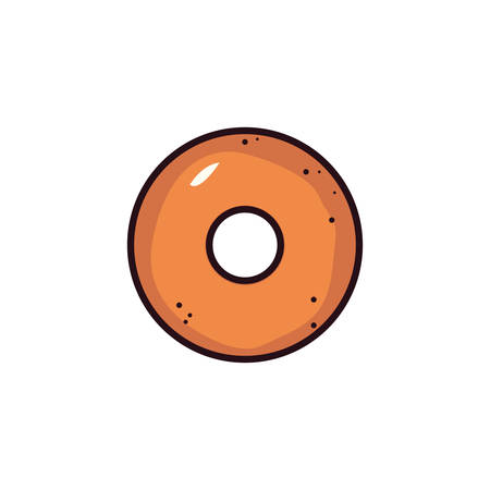 fresh and delicious bakery donut vector illustration design