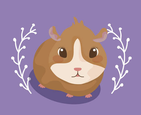 cute guinea pig baby animal vector illustration design Illustration