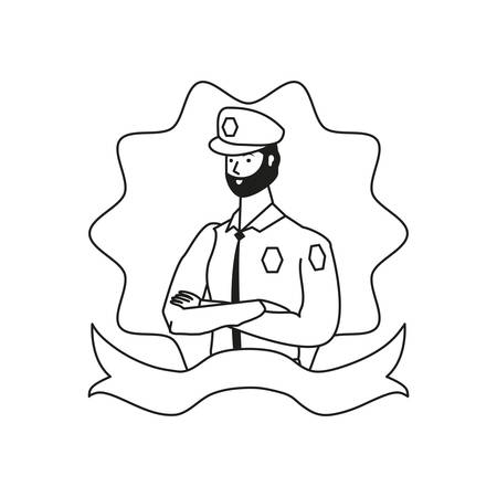 police officer worker avatar character vector illustration design Illustration