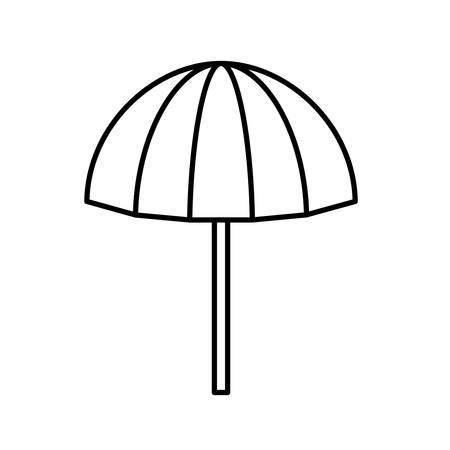 beach umbrella open isolated icon vector illustration design  イラスト・ベクター素材