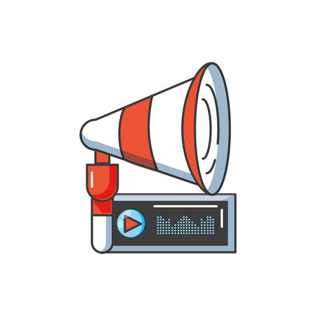 sound megaphone audio isolated icon vector illustration design