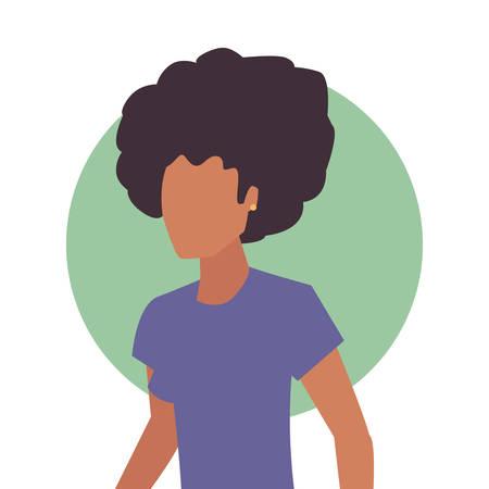 woman female character portrait design vector illustration