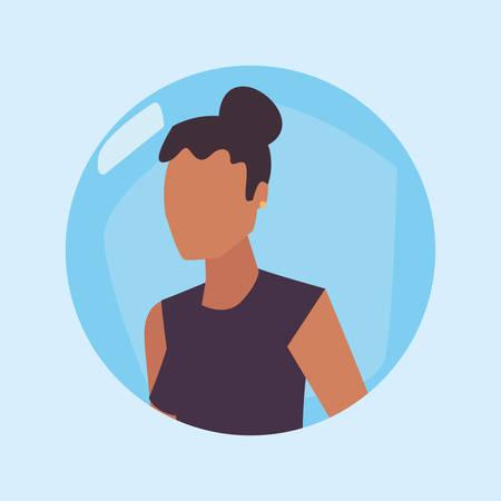 woman female character gesture design vector illustration Ilustracja