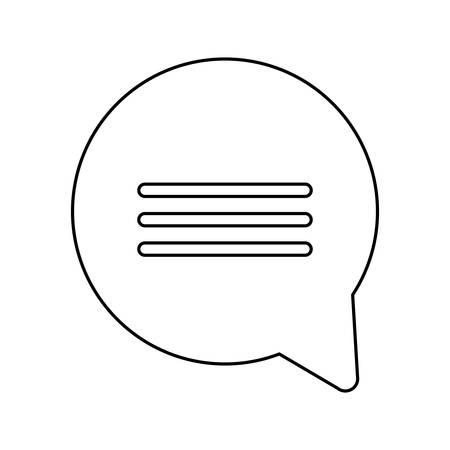 speech bubble message isolated icon vector illustration design Ilustracja